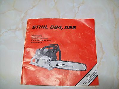 Stihl 064,066 Owners Manual - Chainsaw