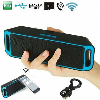 Portable Wireless Bluetooth V3.0 Stereo Speaker Support TF FM USB MP3 Player