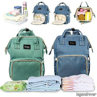 Multifunctional Baby Diaper Nappy Backpack Waterproof Large Changing Mom Bag UK