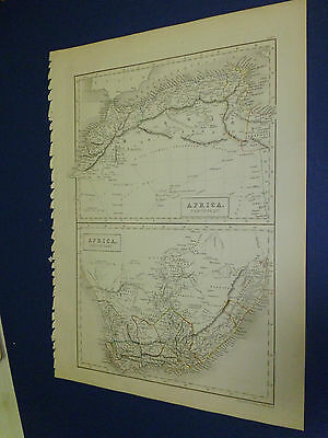 100% Original South/north Africa  Map By Black/hall C1844 Vgc Low Postage