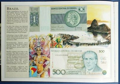 World Banknotes: COLLECTION of 15 diff in special album with descriptive text.