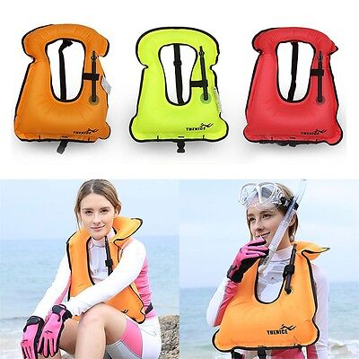 Mens Snorkeling Gear Swimwear Inflatable Adult Life Jackets Vest SwimwearPR
