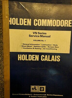 Commodore VN Holden Service Manual Volume No1