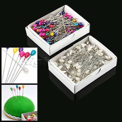 144Pcs 55mm Pearl Head Dressmaking Sewing Pins Needles Wedding Tailor Crafts DIY