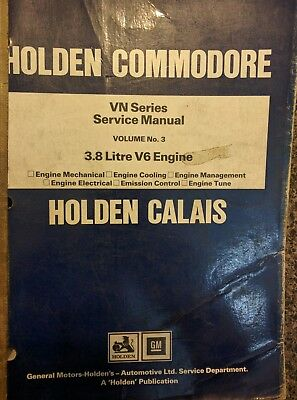 Commodore VN Holden Factory service Manual Volume No3 Engine and Components