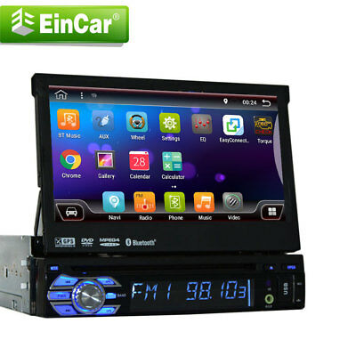 Autoradio 1 Din Android 6.0 estéreo Quad Core Car GPS navegación Bluetooth Radio