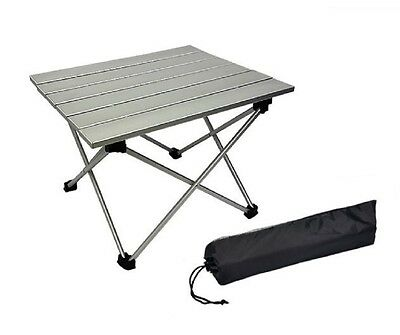 1 x Aluminum Roll Up Table Folding Camping Outdoor Indoor Picnic Bag Heavy Duty