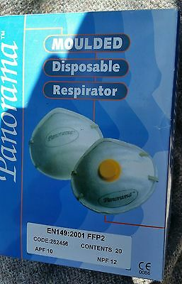 Panorama 20 X Disposable Moulded Dust Face Mask Respirator