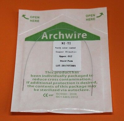 Aesthetic White Super Elastic Euro NiTi Orthodontics Arch wire Nickel Titanium