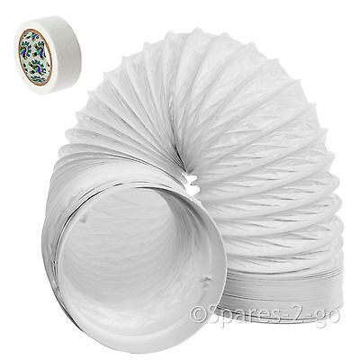"""3m Vent Hose Pipe PVC Duct 5"""" Extension for Miele Air Conditioner Conditioning"""