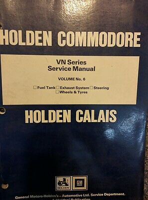 Commodore VN Factory Service Manual Volume No 6.