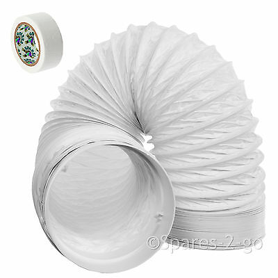 """3m Vent Hose Pipe PVC Duct 5"""" Extension for Dimplex Air Conditioner Conditioning"""