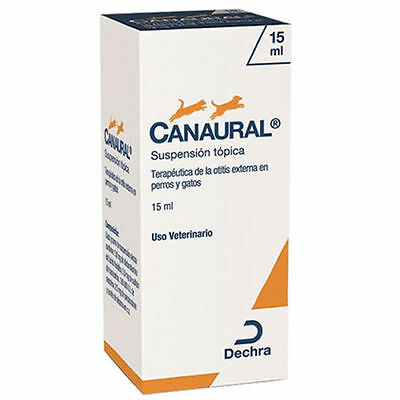 CANAURAL 15ml GOTAS ÓTICAS PERROS Y GATOS / DOGS AND CATS EAR DROPS