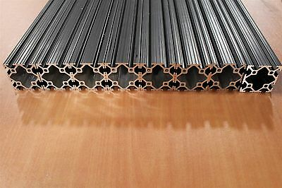 80/20 Inc 2 x 2 T-Slot Aluminum Extrusion 10 Series 2020 Black Lot 15 (8pcs)