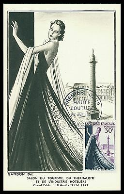 FRANCE MK 1953 HAUTE COUTURE PARIS MODE FASHION MAXIMUMKARTE MAXI CARD MC cf09
