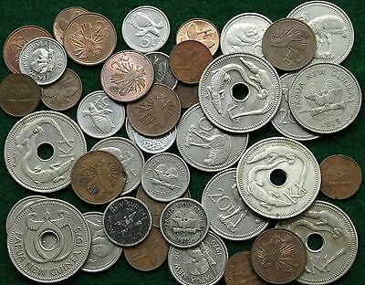 Bulk Lot Coins of Papua New Guinea, Bird of Paradise, Crocodiles