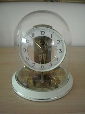 Ato Junghans Vintage Glass Dome Battery Clock In Great Working Condition
