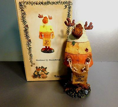 Boyds Moose Troop Mortimer Q. Mooseltreat Ding Dong Halloween 1St Ed. *new*