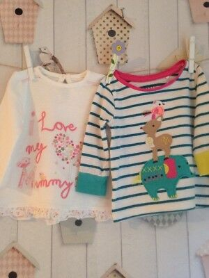 Baby Girl Age 3-6 Months Tops X 2 Long Sleeve
