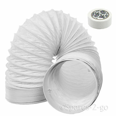 """3m Vent Hose PVC Duct 5"""" Extension for Samsung Air Conditioner Conditioning"""