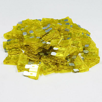 100 x 20 Amp Yellow Standard Blade Fuses Amps 20A Fuse Car Van Auto Marine ATO