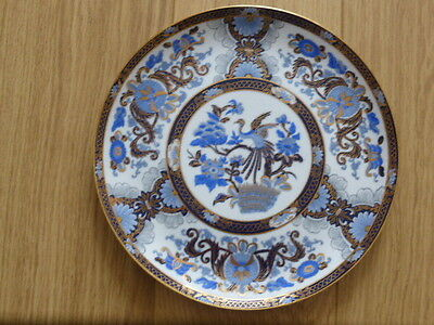 Chinese plate blue & white & gold,bird,flowers,decorative.