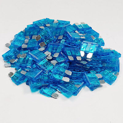 100 x 15 Amp Blue Standard Blade Fuses Amps 15A Fuse Car Van Auto Marine ATO