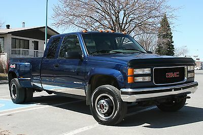 1996 GMC Sierra 3500 SLE DUALLY 4x4 350 MANUAL* 150 4K PICS&VIDEOS GMC SIERRA 3500 EXT CAB 4X4 DUALLY MANUAL TRANS
