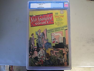 Star Spangled Comics #33 Cgc 5.0 Comic Book 1944