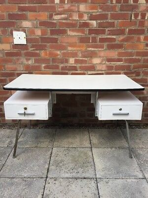 Vintage 1963 Hospital Table Made in Poland Doctors Industrial Retro Desk Salvage