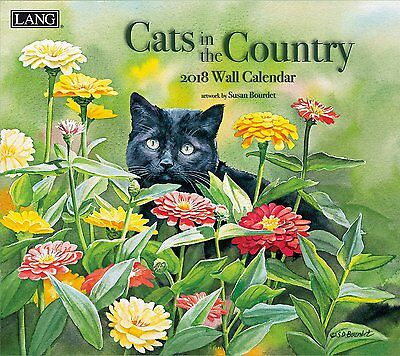 Cats in the Country 2018 Wall Calendar NEW by Lang, Shipping Included