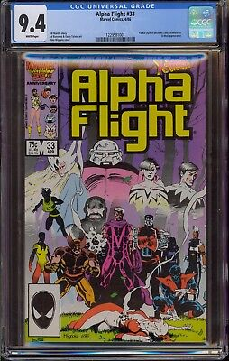 Alpha Flight #33 CGC 9.4 NM 1st appearance Lady Deathstrike, Mike Mignola cover