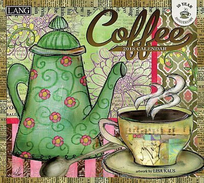 Coffee 2018 Wall Calendar NEW by Lang, Shipping Included