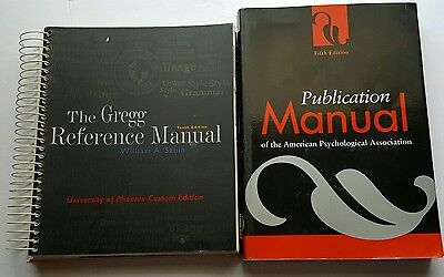 10th Edition The Gregg Reference Manual & 5th Edition Publication Manual