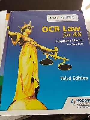 OCR Law for AS by Sue Teal, Jaqueline Martin (Third edition)