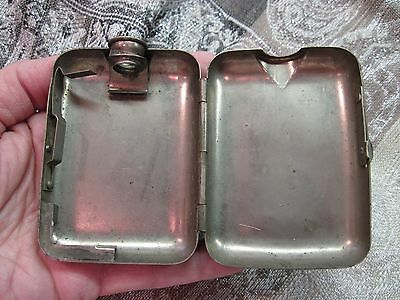 Antique Unusual Hinged Metal Pocket Hand Warmer Flask Turn of Century 1900's
