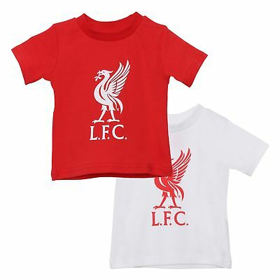 Liverpool FC LFC 2 Pack Red White Baby Liverbird T-Shirt NWT Official