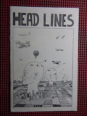 Head Lines 1980 Animal Head Productions 1st Printing Kennedy #960