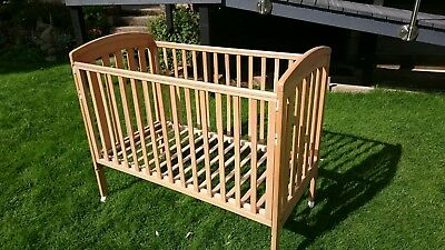 Mothercare wooden next-to-bed cot