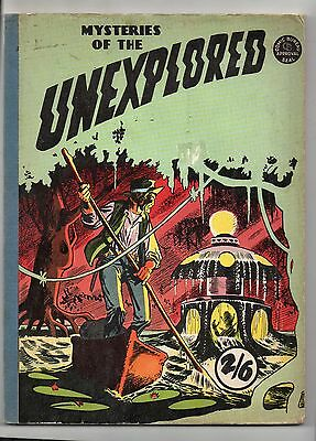 Mysteries Of The Unexplored Comic Album / V.good+ G.t. Circa 1959 / Soft Cover.
