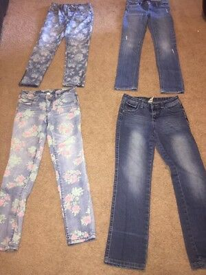 Girls Huge Lot 10 Pair Levis Hollister Jeans Size 10 BTS Free Fast Shipping! EUC
