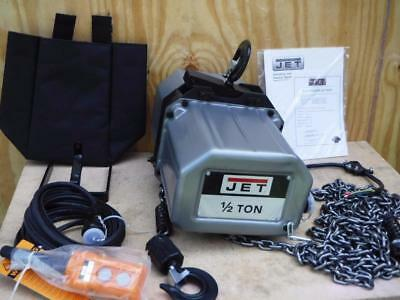New Jet 121200 1/2SS-1C-20 1/2-Ton 20 foot Lift Electric Chain Hoist 1 Phase