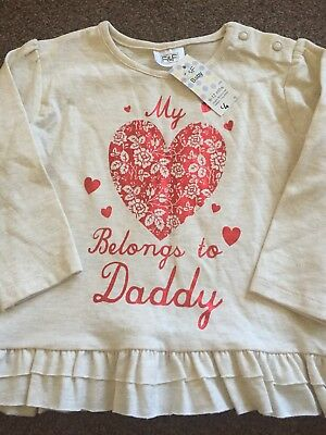 Baby Girls Long Sleeve Top 9-12 Months New