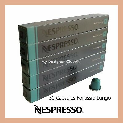 50 Capsules Nespresso Coffee Fortissio Lungo Pods Rich &Full-bodied Intensity 8