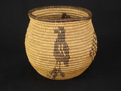 A Very Nice Chemehuevi olla basket with Birds, Native American Indian, c.1915