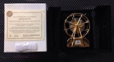 Bulova Limited Edition B0015: The Big Wheel Miniature Collectable New In Box