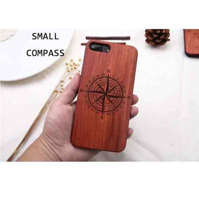 Natural Wood Wooden Bamboo PC  Hard Case Back Cover Bumper Retro Engraving EB SH
