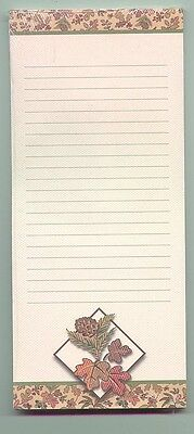 free shipping Longaberger Autumn LeavesTo Do List Pad with Magnet on back sealed