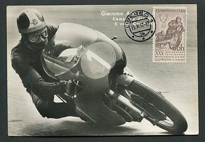 CSSR MK 1957 MOTORRAD MOTORCYCLE MAXIMUMKARTE CARTE MAXIMUM CARD MC CM d8790