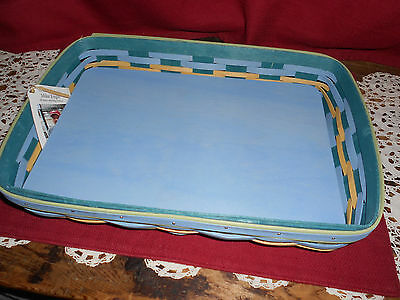 Longaberger 2017 MED TRAY BASKET ~ FRENCH  BLUE!    NEW!    BUY IT NOW!    LOOK!